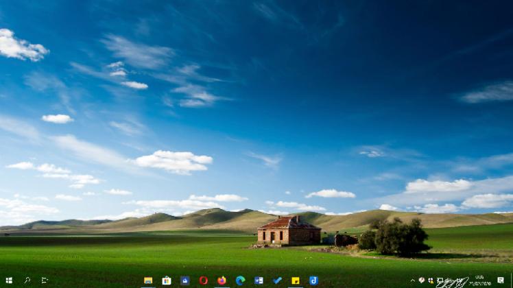 La barra de Windows 10X en Windows 10 con FalconX