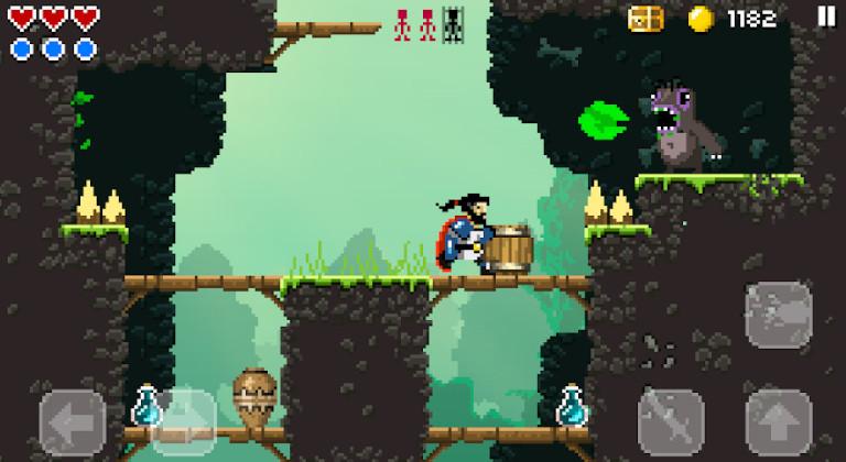Sword of Xolan es un divertido juego para Android que combina espadas, plataformas y Pixel Art