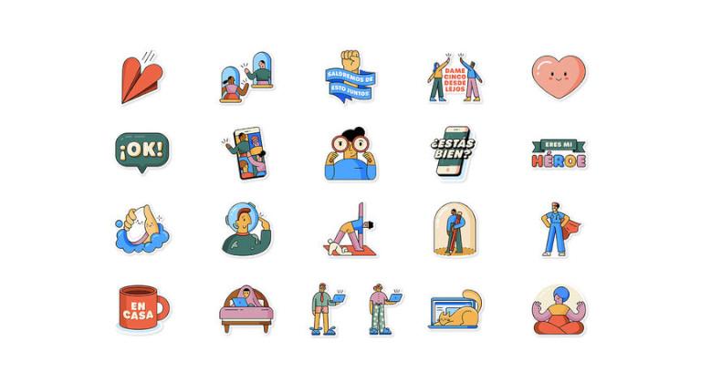 Los stickers animados empiezan a llegar, a cuentagotas, a Whatsapp