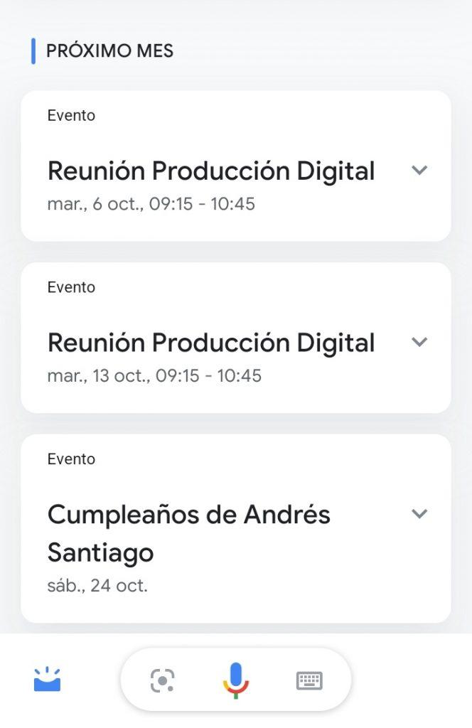 Así se ven los nuevos Snapshots de Google Assistant, un cumpleaños incluido