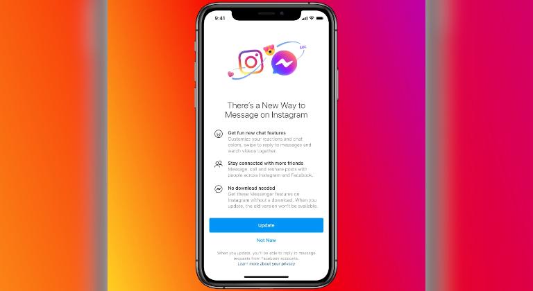 Facebook empieza a habilitar los mensajes cruzados entre Messenger e Instagram