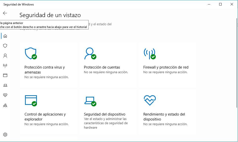 Un antivirus gratuito, fácil de usar y con las opciones justas es, sin duda, Windows Defender, que viene integrado en Windows 10