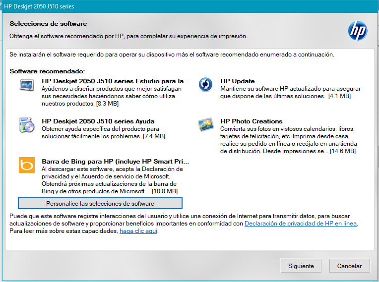 Software de controladores de HP