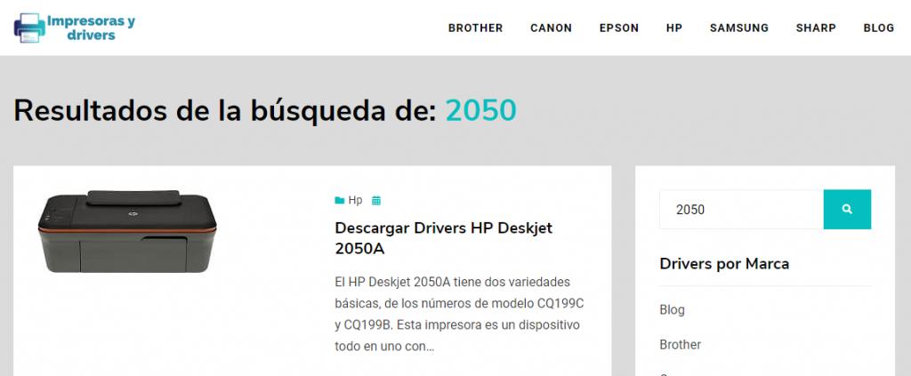 Buscando el driver para una impresora HP Deskjet 2050