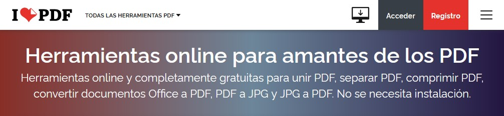 cómo editar y convertir archivos PDF gratis - acceder