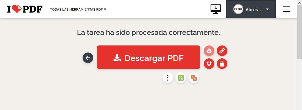 cómo editar y convertir archivos PDF gratis - descargar editado