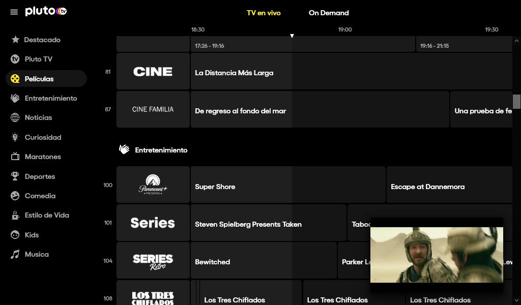 Pluto TV es televisión gratis en streaming