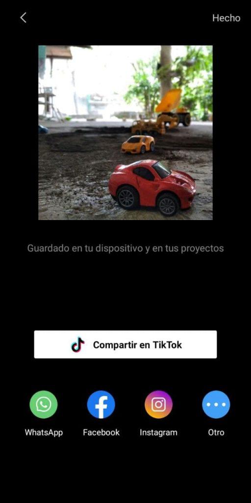 Ya terminaste de agregar tu efecto 3D, ahora exporta y comparte tu video
