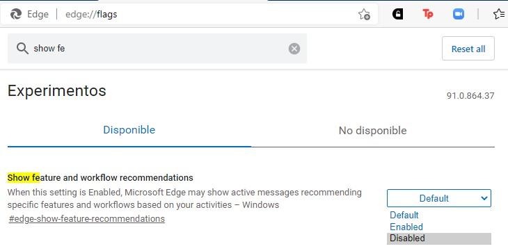 Microsoft Edge te pone una notificación persistente para que lo uses por defecto junto a Bing, así la puedes quitar