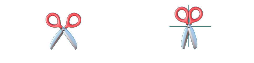 Emoji de las tijeras de Apple