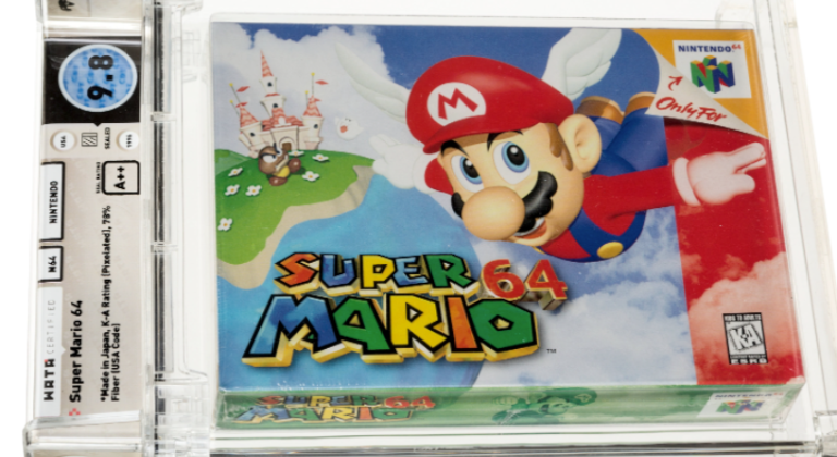 El cartucho de Super Mario 64