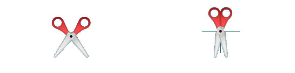 Emoji de las tijeras de Google