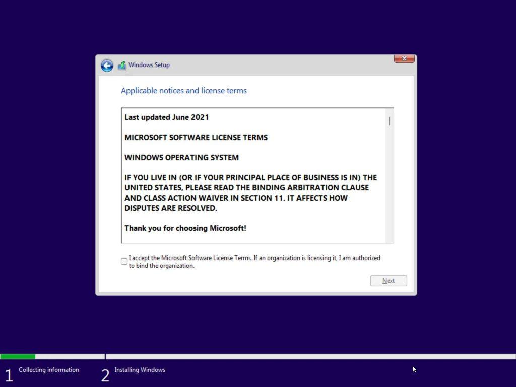 Windows 11 instalándose sin TPM