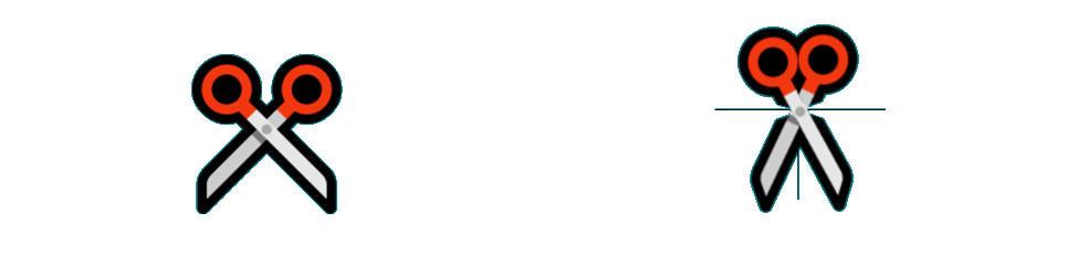 Emoji de las tijeras en Windows