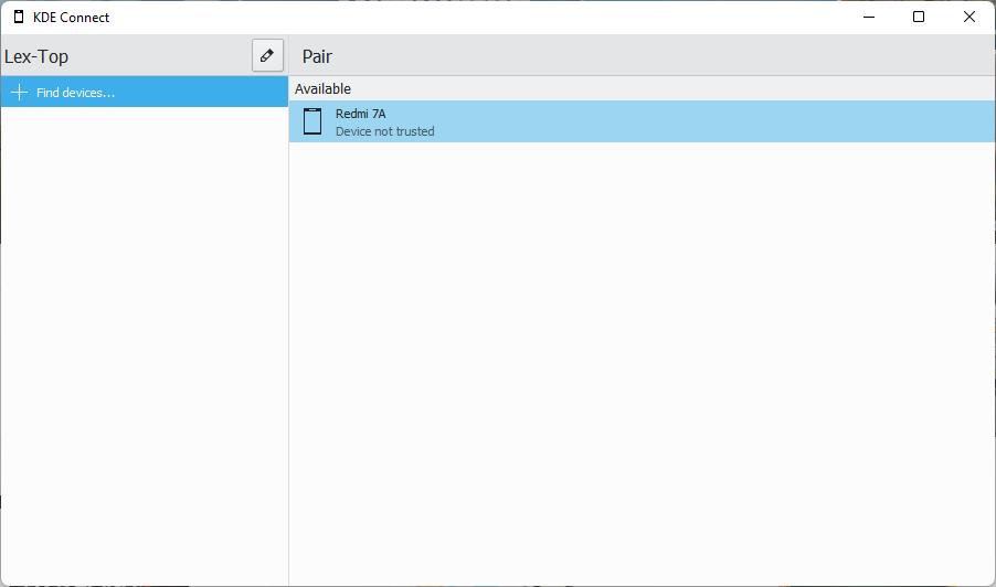 Emparejando KDE Connect en el PC